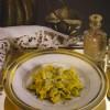 Pasta ripiena di bietola con erbette (pasta rellena de algas con hierbas aromáticas)