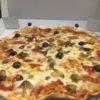 Pizza Capriccio alla zíngara (Pizza al capricho de la gitana) (misto vegetali e fungi) (mixto de vegetales y setas)