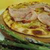 Pizza agli asparagi (pizza de esparragos)