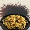 Spaghetti con polpa di riccio marino (spaghetti con pulpa de erizo marino)