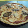 Pizza  orzo tostato con melanzane (pizza de cebada tostada con berenjenas)