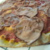 "Pizza con roast beef Bos Taurus (sottofesa) ""Negrini"""