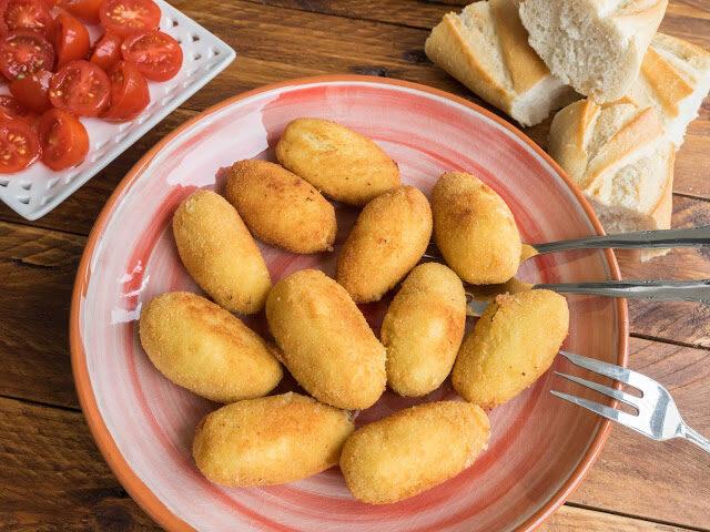 Croquetas de puerro y parmesano